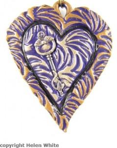 Cat Lovers' Pendant - purple - copyright Helen White