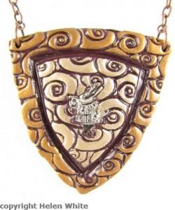 Rabbit pendant - copyright Helen White