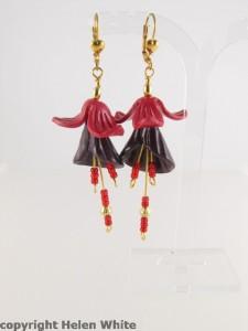 Fuchsia earrings made for a customer - copyright Helen White