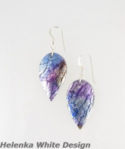 Polymer Clay Earrings - Dichroic - copyright Helen White