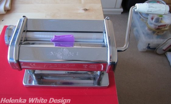 My Atlas pasta machine with a bit of Premo clay - copyright Helen White