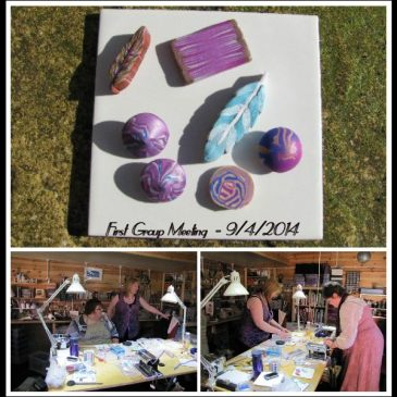Cardiff Polymer Clay group meeting - copyright Helen White