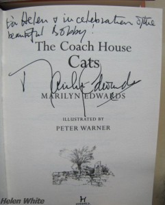 One of the four signed copies of the Moon Cottage series by Marilyn Edwards. Photo copyright Helen White