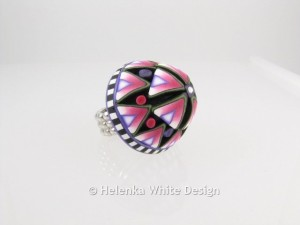 The finished domed ring