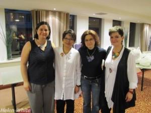 Group photo: Cara Jane Hayman, Donna Kato, Helen White, Bettina Welker