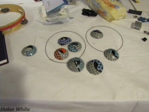 Cara's table with some pendants
