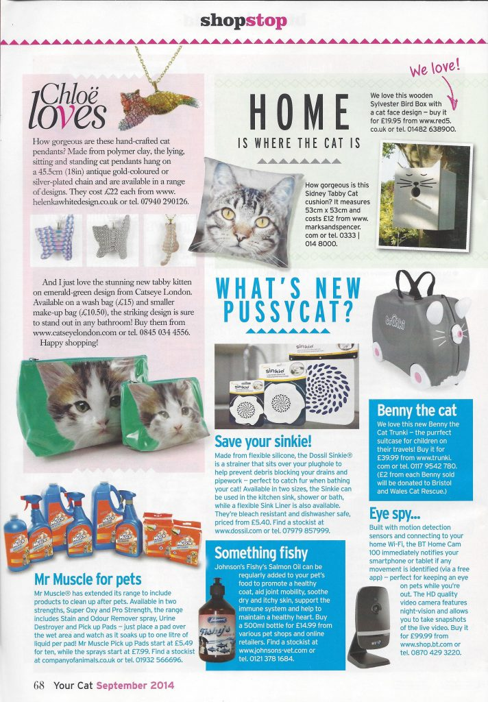 Featured in Your Cat magazine.