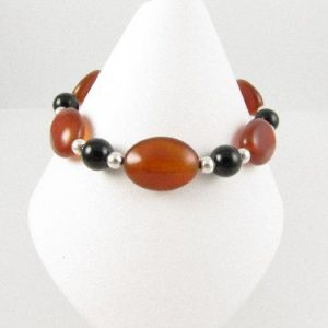 Red and black Agate bracelet