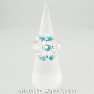 Swarovski crystal ring in opal