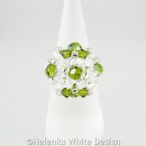 Swarovski crystal ring in green