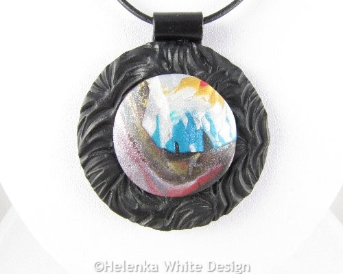 Abstract landscape pendant 1 - detail