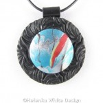 Abstract landscape pendant 2 -detail