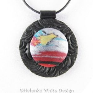 Abstract landscape pendant 3 - detail