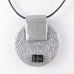 Mokume Gane pendant in silver -back