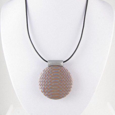 Mokume Gane pendant in silver - on bust