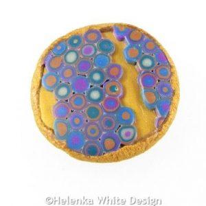 Gold Klimt brooch - front