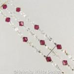 Swarovski crystal bracelet in Siam - detail