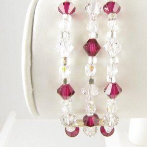 Swarovski crystal bracelet in Siam - front