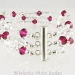 Swarovski crystal bracelet in Siam - riser