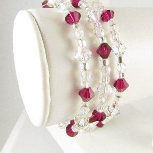 Swarovski crystal bracelet in Siam - side