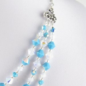 Turquoise and opal necklace - detail