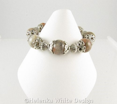 Autumn Jasper bracelet on cone