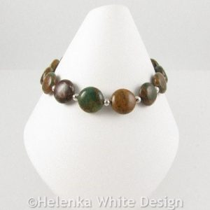 Rainbow Agate bracelet on cone