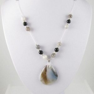 Botswana Agate necklace on bust
