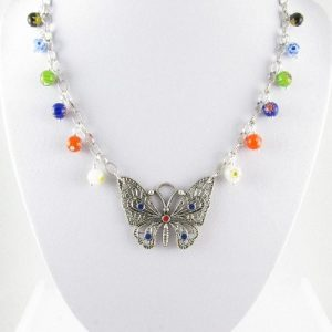 Butterfly necklace 1 on bust
