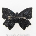 Polymer clay butterfly brooch 1 back