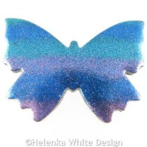 Polymer clay butterfly brooch 1