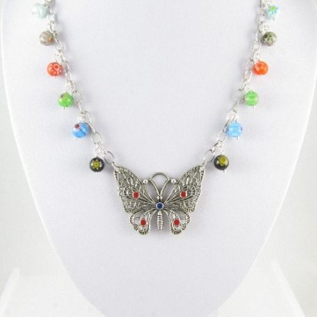 Butterfly necklace 2 on bust