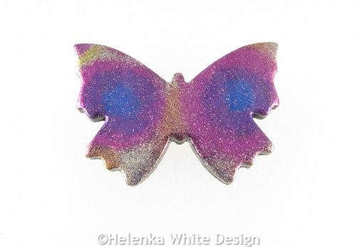 Polymer clay butterfly brooch 2