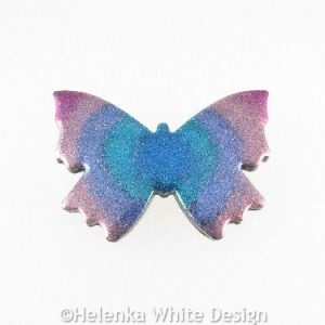 Polymer clay butterfly brooch 3