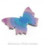 Polymer clay butterfly brooch 3 side