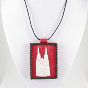 Cologne Cathedral pendant - on bust