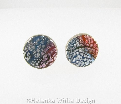 Cufflinks blue and red front