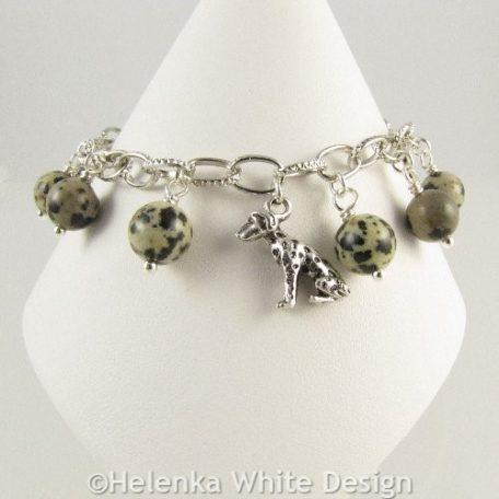 Dalmatian bracelet front