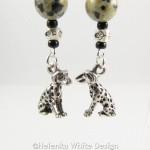 Dalmatian earrings - detail
