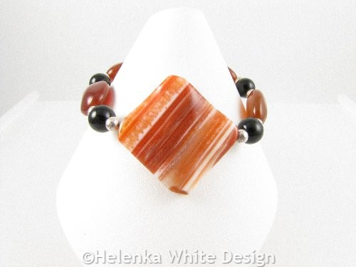 Diamond Agate bracelet on cone