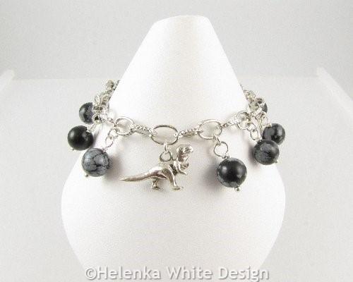 Dinosaur charm bracelet - front