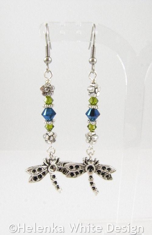 Dragonfly earrings 1