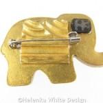Elephant brooch back