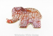 Elephant brooch front
