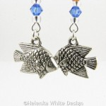 Fish earrings - detail