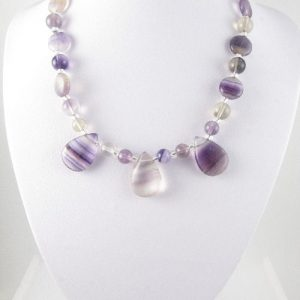 Fluorite necklace on bust