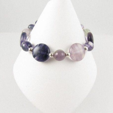 Fluorite bracelet on cone