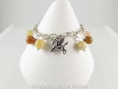 Flying horse charm bracelet - front landscape