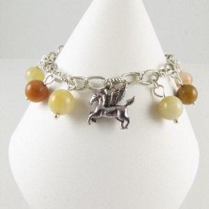 Flying horse charm bracelet - front