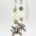 Flying horse earrings
